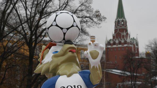 Symbol MS 2018 vlk Zabivaka v Moskvě - Sputnik Česká republika