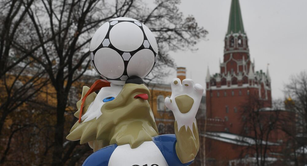 Symbol MS 2018 vlk Zabivaka v Moskvě