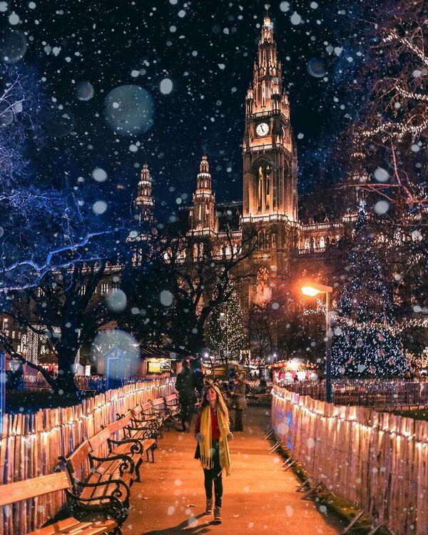 Sněžení ve Vídni na fotografii projektu How Far wrom Home - Sputnik Česká republika