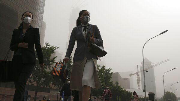 Dívky v centru Pekingu - Sputnik Česká republika