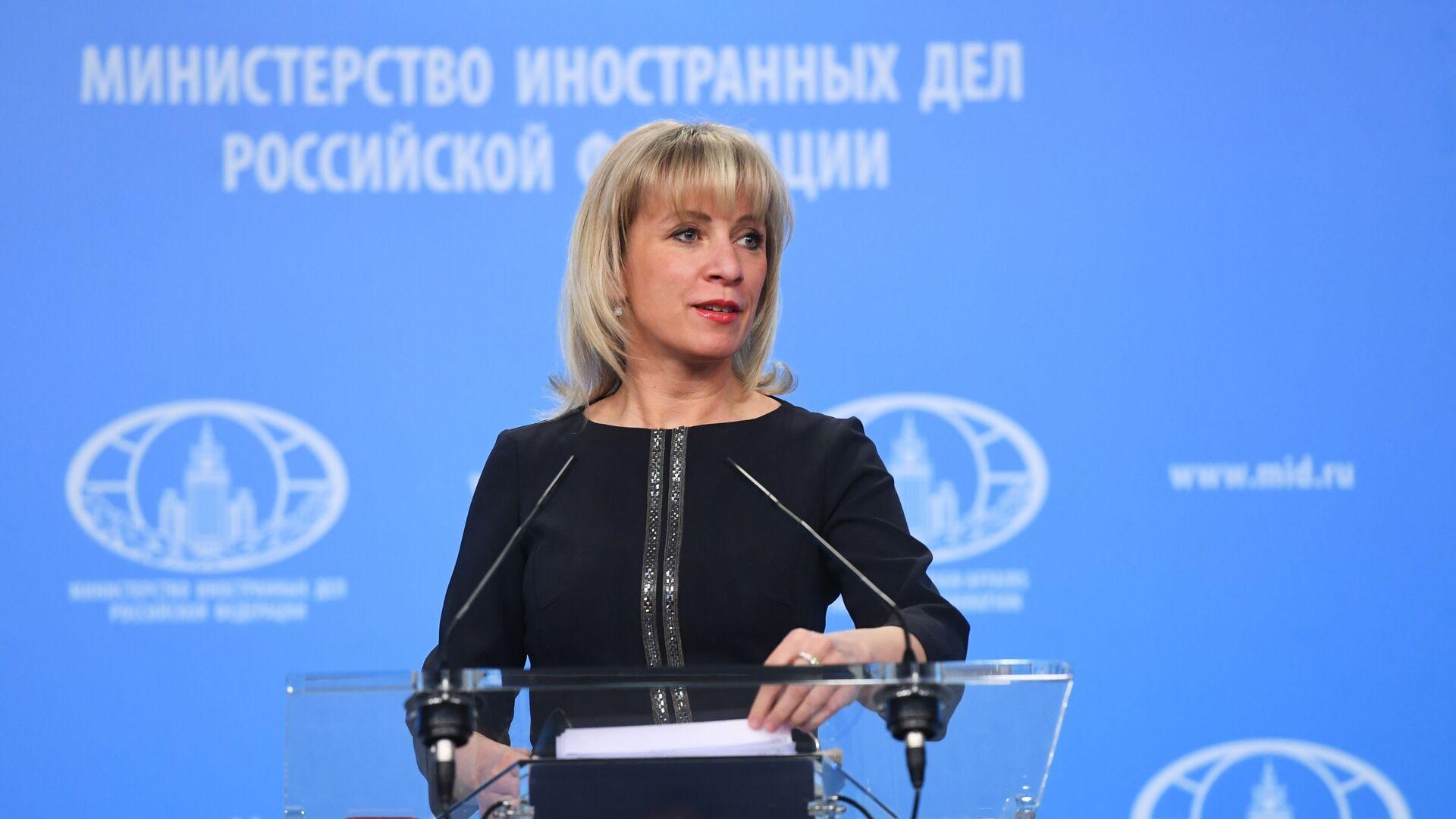 Oficiální tisková mluvčí Ministerstva zahraničních věcí Ruska Maria Zacharovová - Sputnik Česká republika, 1920, 13.07.2021