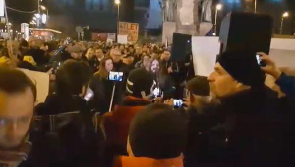 Protesty v Praze 18. března - Sputnik Česká republika
