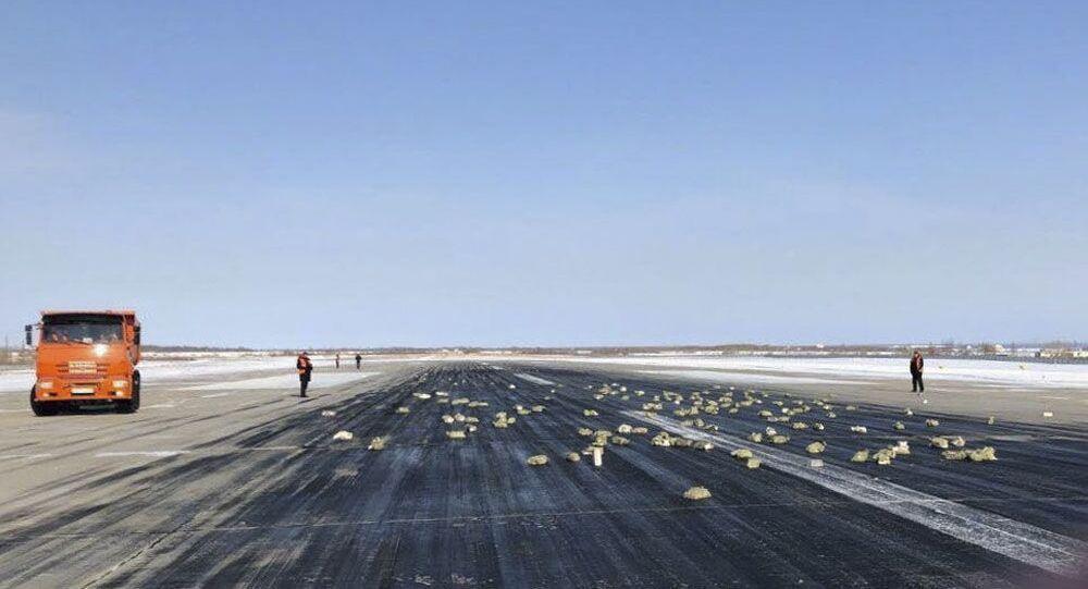 Přistávací dráha letiště ruského Jakutsku