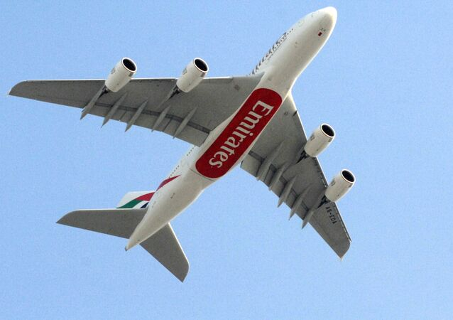 Letadlo Airbus A380 letecké společnosti Emirates