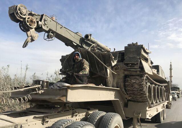 Syrští vojáci ve východní Ghútě