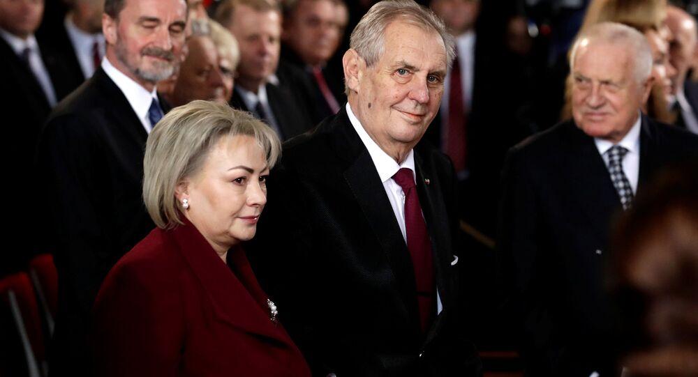 Inaugurace Miloše Zemana jako nového prezidenta ČR