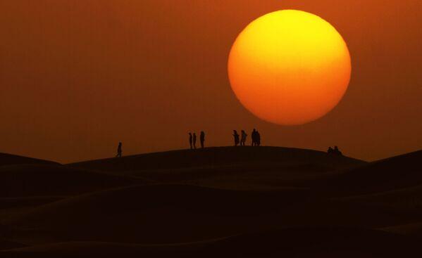 Koňské dostihy v marocké poušti - Sputnik Česká republika