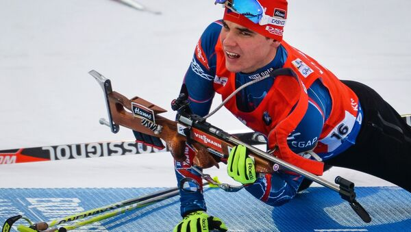 Michal Krčmář při sprintu v Chanty-Mansijsku - Sputnik Česká republika