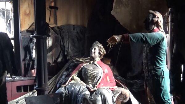 Požár v muzeu voskových figurín v Krasnojarsku - Sputnik Česká republika