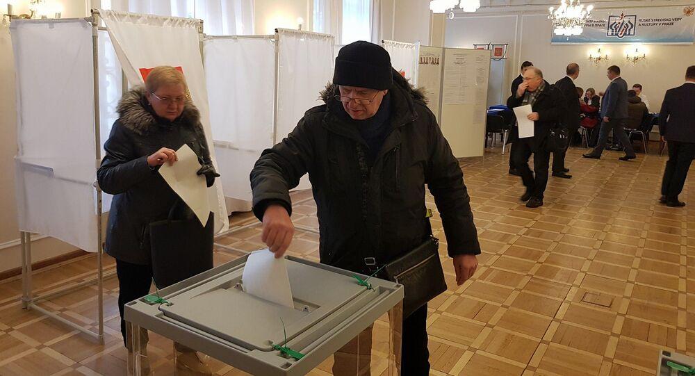 Hlasování ve volbách prezidenta RF v Praze