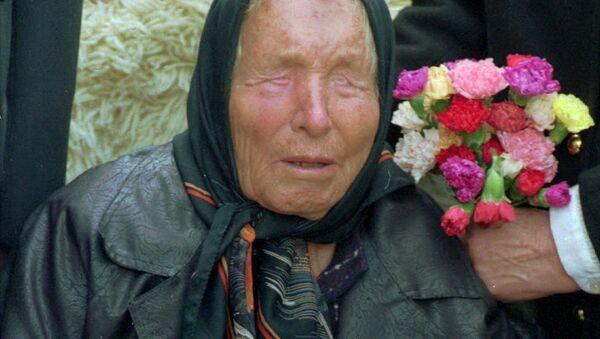Baba Vanga, vlastním jménem Vangelija Pandeva Dimitrova – Gušterova. Fotografie z roku 1994 - Sputnik Česká republika