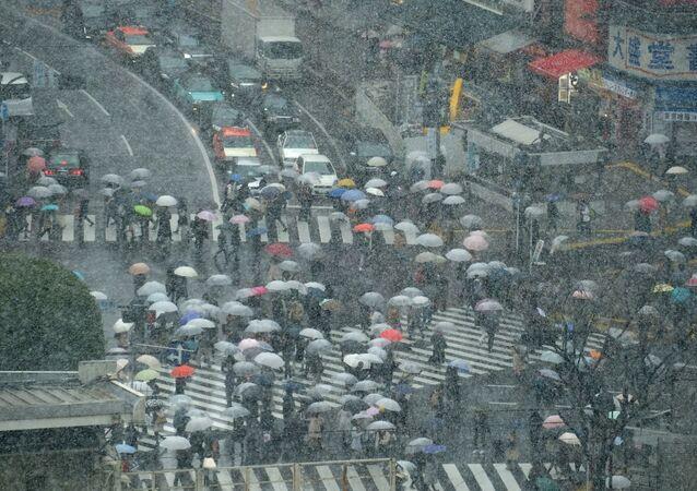 Sněžení v Japonsku