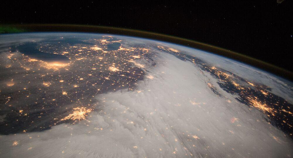 Pohled na Velká jezera z ISS