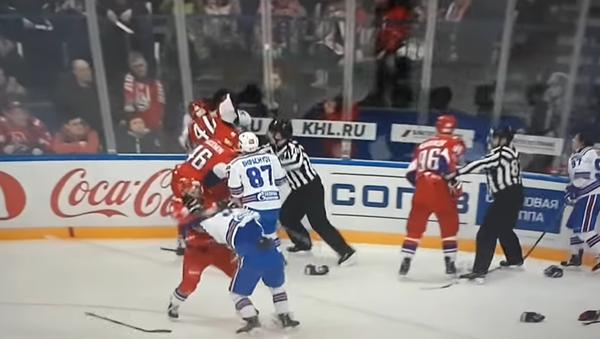 Hromadná bitka v KHL - Sputnik Česká republika