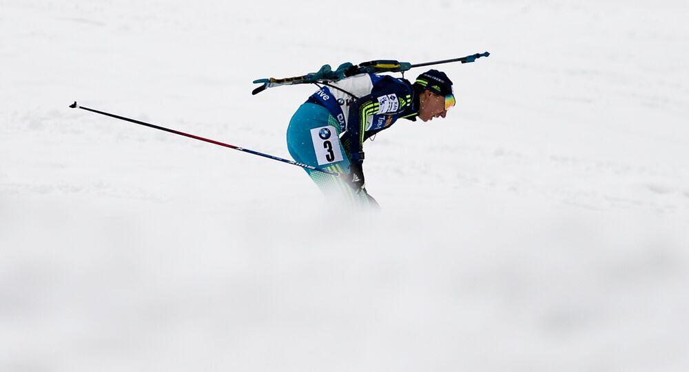 Ukrajinská biatlonistka Olena Pidhrušná