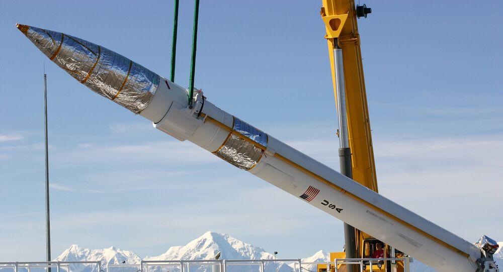 Americká raketa na Aljašce.