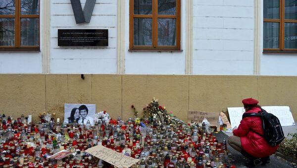 Protivládne zhromaždenia, ktoré spustila vražda novinára Jána Kuciaka a jeho snúbenice pokračovali aj tento piatok. - Sputnik Česká republika