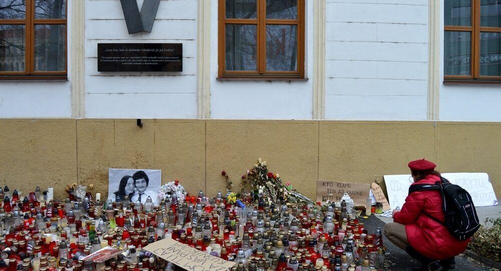 Květiny na památku Jána Kuciaka
