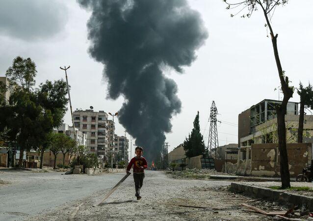 Syrské město Duma, východní Ghúta