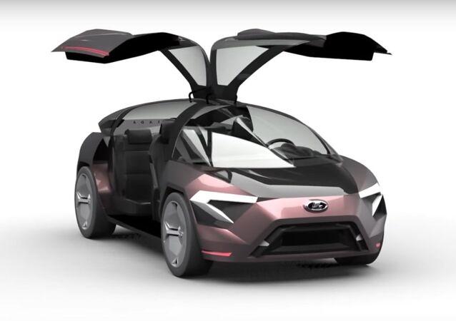 Designérka představila koncept budoucího automobilu LADA Triangle-X 2025