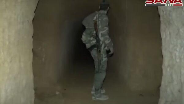 Syrská armáda objevila síť tunelů teroristů ve východní Ghútě - Sputnik Česká republika