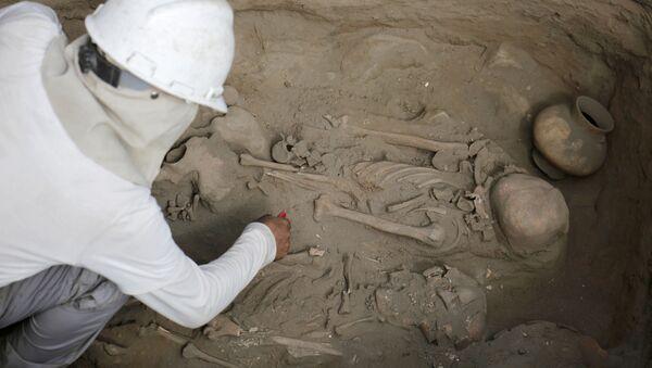 Archeologické vykopávky v Peru - Sputnik Česká republika