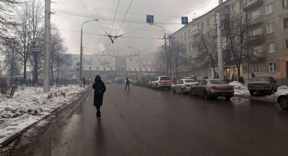 Požár obchodního centra v Kemerovu