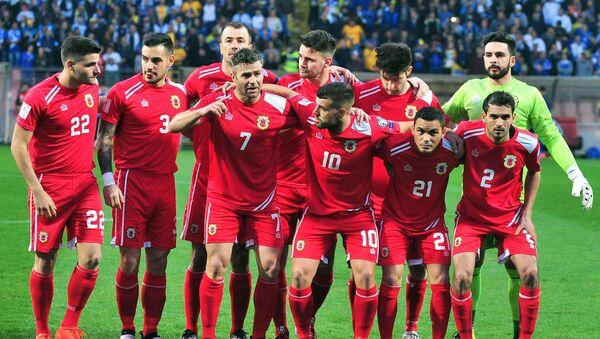 Reprezentace Gibraltaru před zápasem s Bosnou a Hercegovinou - Sputnik Česká republika