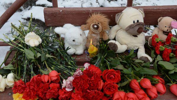 Květiny u obchodního centra v Kemerovu - Sputnik Česká republika