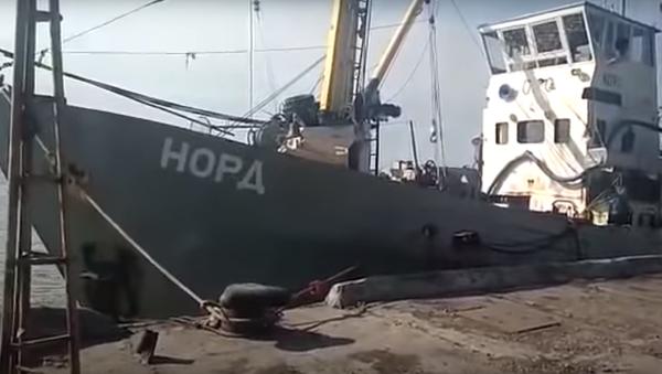 Bylo opublikováno VIDEO z místa zadržení ruské lodi Ukrajinou - Sputnik Česká republika