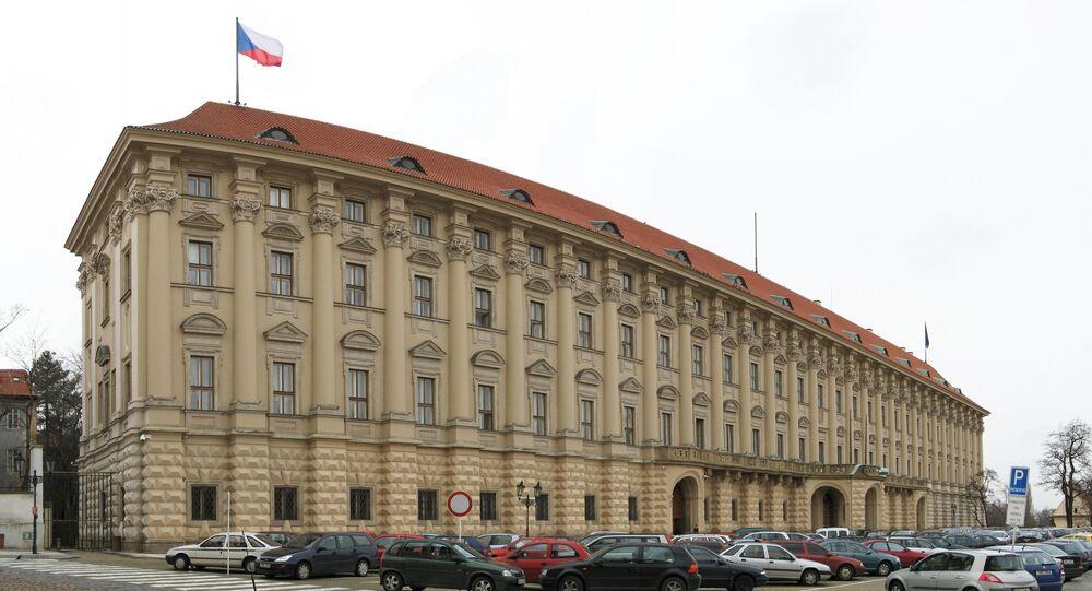 Černínský palác, Loretánské náměstí 5, Praha. Sídlo Ministerstva zahraničních věcí České republiky.