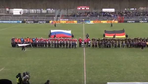 Ruští ragbisté si poslechli sovětskou hymnu a porazili Německo - Sputnik Česká republika