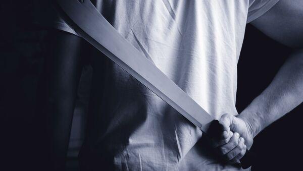 Muž s mačetou. Ilustrační foto - Sputnik Česká republika