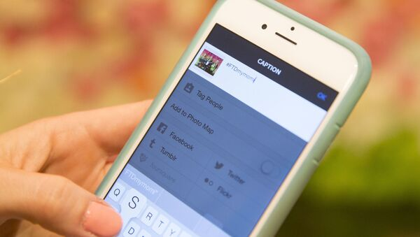 Účet Instagramu na smartphonu - Sputnik Česká republika