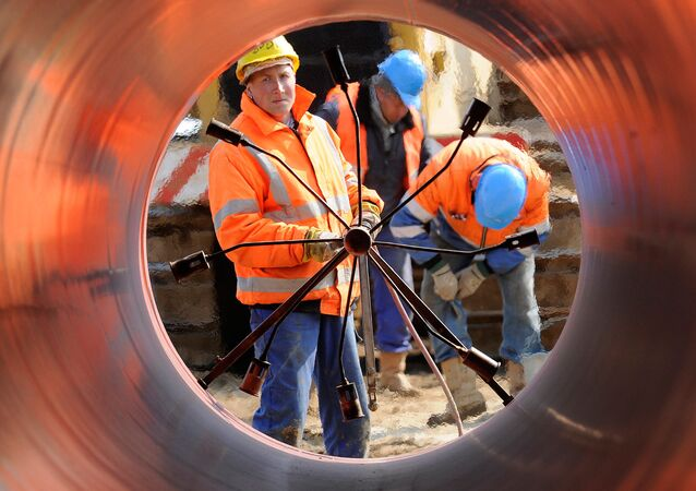 Budování plynovodu v Německu