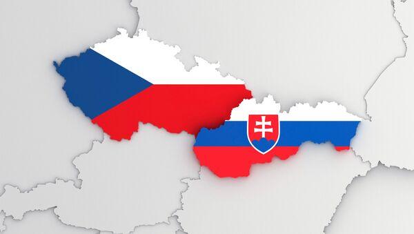 Mapa Česka a Slovenska - Sputnik Česká republika