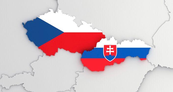 Mapa Česka a Slovenska