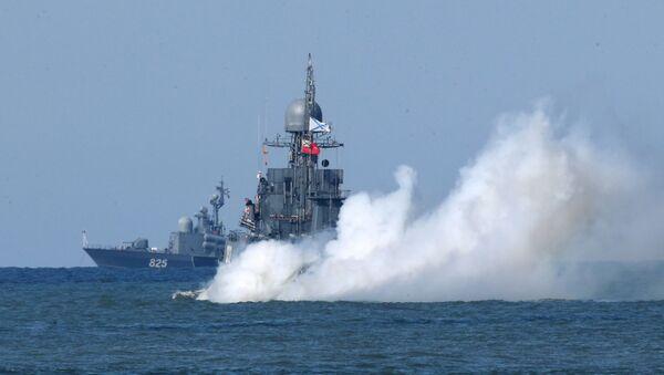 Lodě ruské Baltské flotily během cvičení Západ 2017 - Sputnik Česká republika