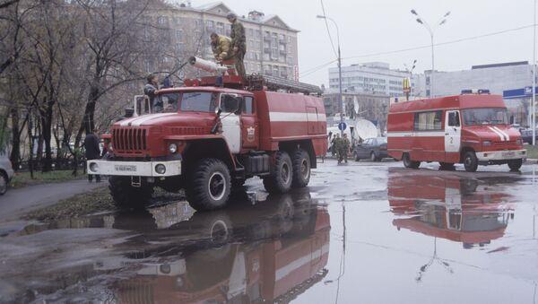 Hasičské vozy. Ilustrační foto - Sputnik Česká republika