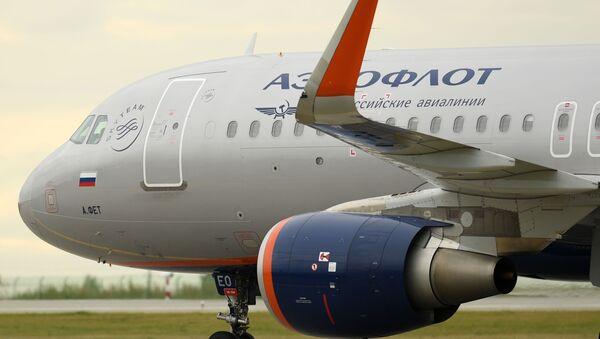 Airbus-A320 společnosti Aeroflot - Sputnik Česká republika