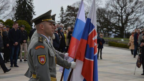 Slovenští vojáci na Slavíně - Sputnik Česká republika