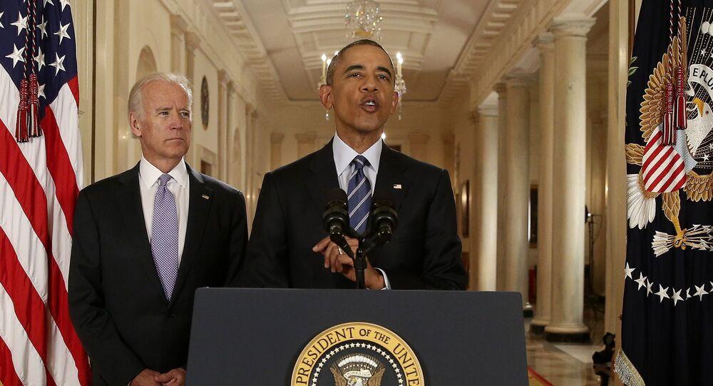 Americký prezident Barack Obama a viceprezident USA Joe Biden