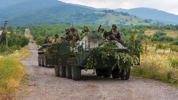 Jednotky služby bezpečnosti Ukrajiny nedaleko Mukačeva - Sputnik Česká republika