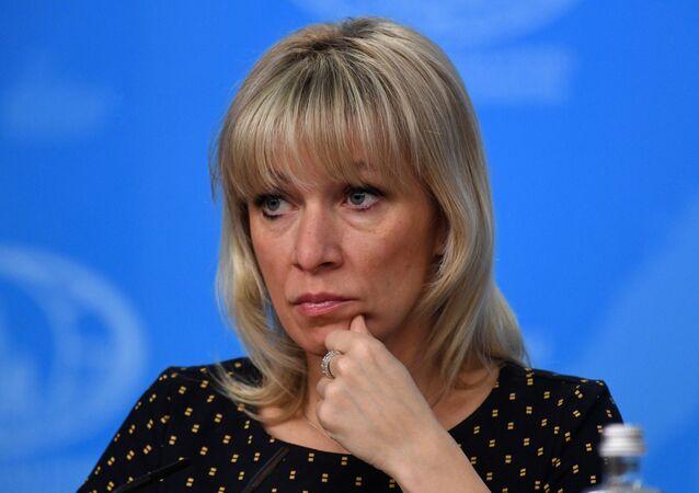 Oficiální mluvčí ruského ministerstva zahraničí Maria Zacharovová