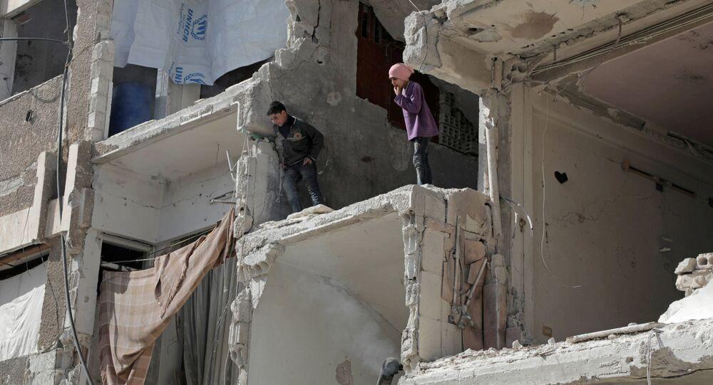Syrské děti v Dúmě
