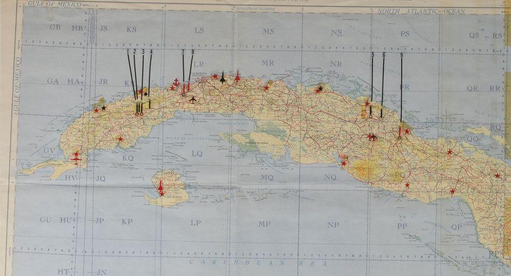 Tajná Kennedyho mapa s vojenskými objekty SSSR