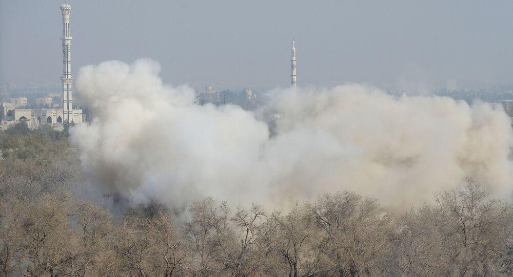Útok na pozice teroristů v Dúmě