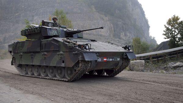 Rakouské bojové vozidlo pěchoty ASCOD Ulan - Sputnik Česká republika