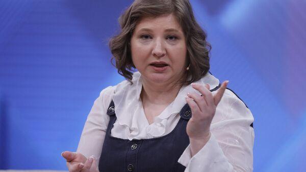 Neteř Sergeje Skripala Viktorie Skripalová během pořadu na Prvním kanálu - Sputnik Česká republika