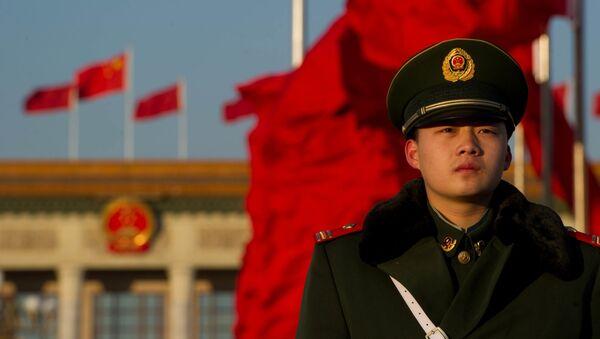 Policista v Pekingu - Sputnik Česká republika